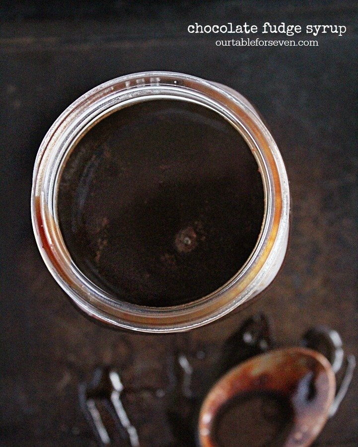 Chocolate Fudge Syrup- Table for Seven #tableforsevenblog #chocolate #syrup #chocolatesyrup