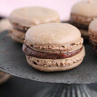 Chocolate Macarons #cookies #chocolate #macarons #dessert #tableforsevenblog