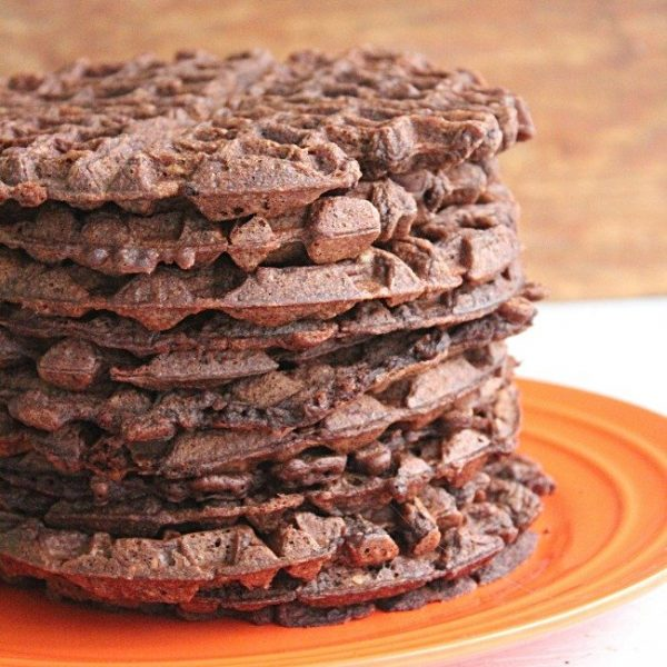 Chocolate Waffles- Table for Seven #chocolate #waffles #chocolatewaffles #breakfast #tableforsevenblog #brunch