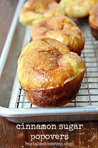 Cinnamon Sugar Popovers @tableforseven #tableforsevenblog #cinnamon #sugar #popovers #cinnamonsugar