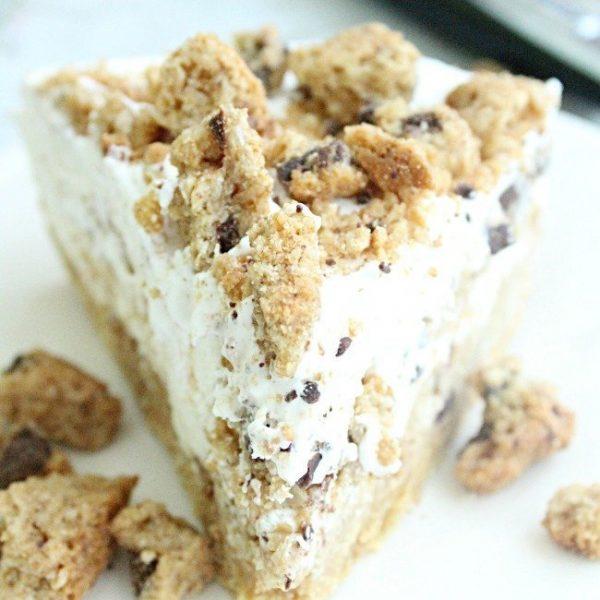 Cookie Pie #fouringredients #nobake #dessert #cookies #pie