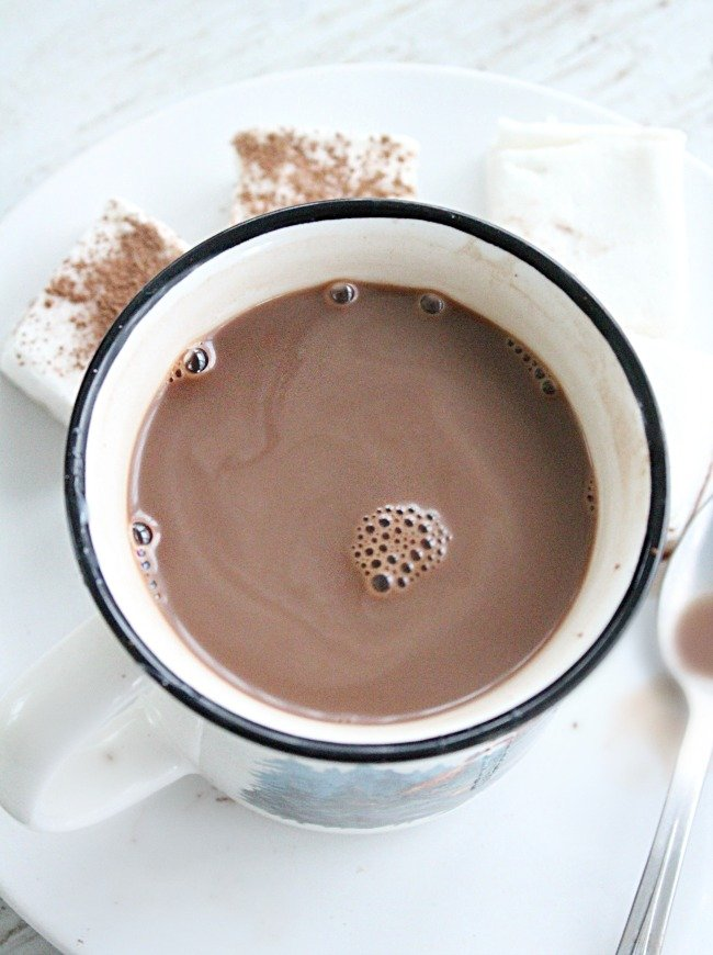 Creamy Hot Chocolate- Table for Seven #hotchocolate #hotcocoa #chocolate