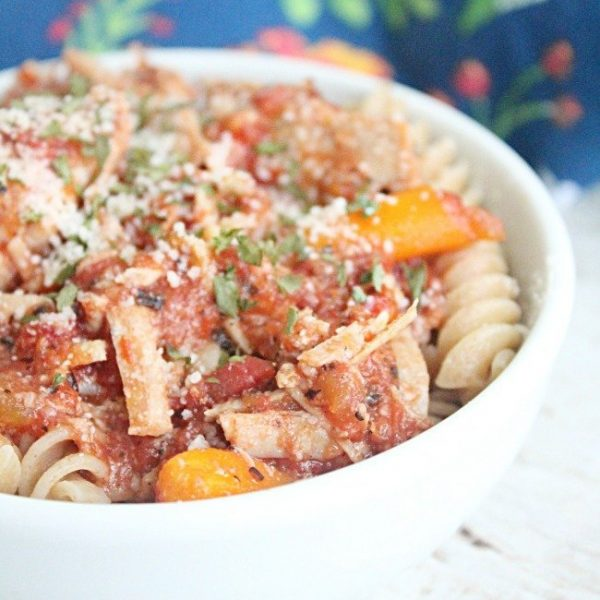 Crock Pot Pork Ragu- Table for Seven #crockpot #slowcooker #pork #ragu #dinner