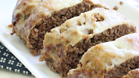 Crock Pot Swiss Cheese Meatloaf #crockpot #slowcooker #meatloaf #swisscheese #dinner #tableforsevenblog