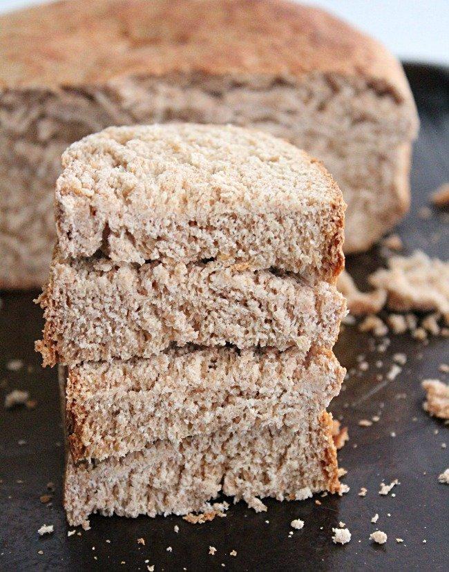 Crock Pot Wheat Bread- Table for Seven #crockpot #slowcooker #bread #wheat #wheatbread