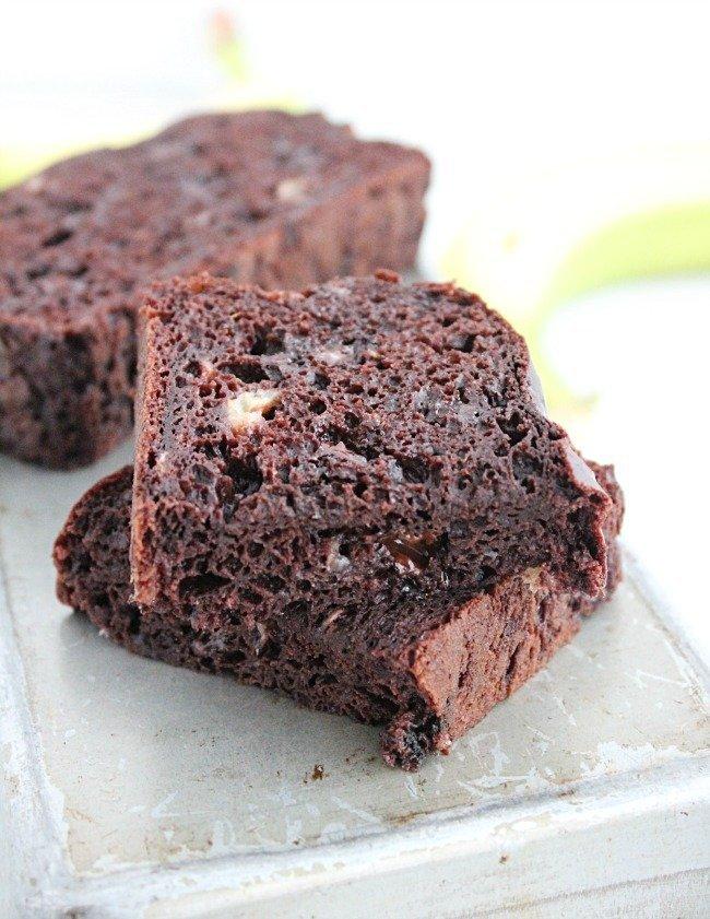 Dark Chocolate Banana Bread #darkchocolate #bananabread #chocolate #banana #tableforsevenblog
