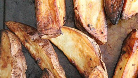 Easy Potato Wedges- Table for Seven #potatowedges #potato #wedges #baked #airfryer