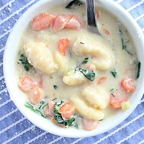 Gnocchi Soup- Table for Seven #tableforsevenblog #gnocchisoup #soup #gnocchi #dinner