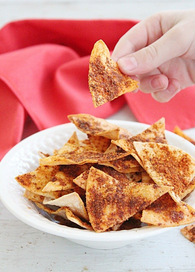 Homemade Doritos #doritos #homemade #snack #tortillashells #tableforsevenblog