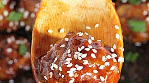 Honey Garlic Meatballs- Table for Seven #meatballs #honey #garlic #dinner #tableforsevenblog