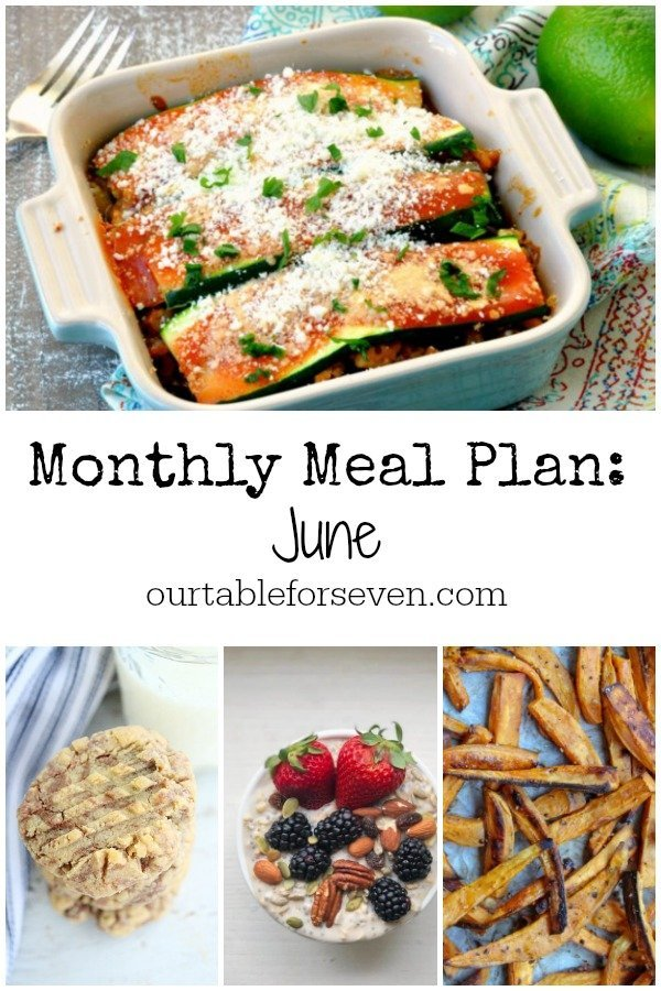 Monthly Meal Plan : June - Table for Seven