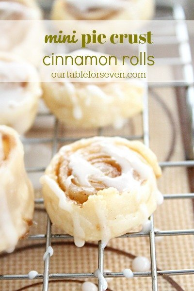 Mini Pie Crust Cinnamon Rolls #piecrust #cinnamonrolls #mini #cinnamon #tableforsevenblog