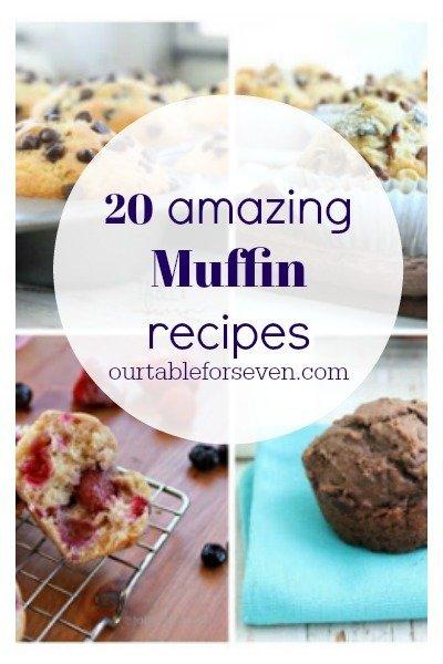 Muffin Recipes #muffins #recipes #muffinrecipes #tableforsevenblog