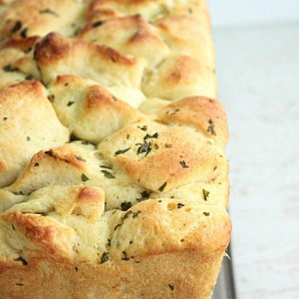Pull Apart Garlic Bread - Table for Seven #garlicbread #bread #garlic