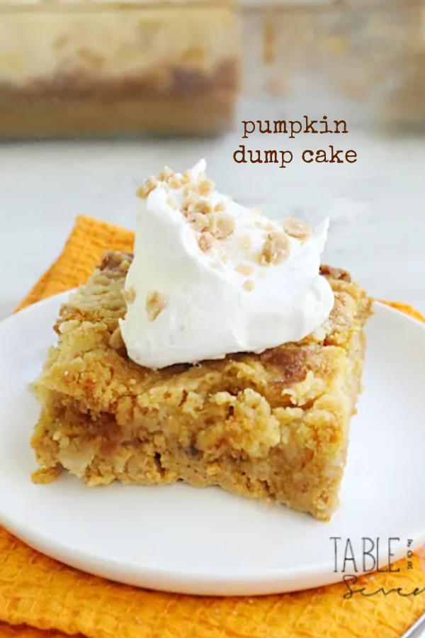 Pumpkin Dump Cake- Table for Seven
