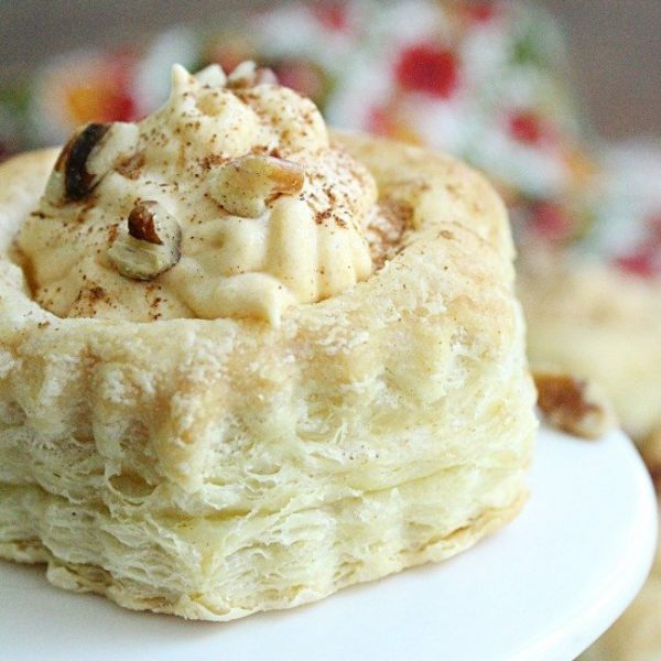 Pumpkin Mousse Pastry Cups #tableforsevenblog #pumpkin #mousse #puffpastry