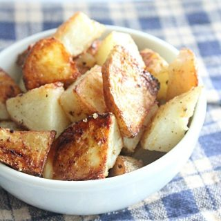 Simple Roasted Potatoes- Table for Seven #potatoes #tableforsevenblog #roastedpotatoes #simple #sidedish