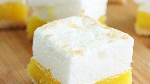 Shortcut Lemon Meringue Bars- Table for Seven #lemonmeringue #bars #dessert