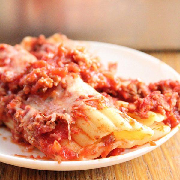 Shortcut Cheese Manicotti- Table for Seven #tableforsevenblog #cheese #manicotti #dinner