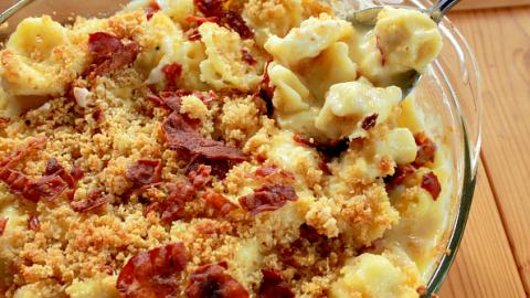 Tortellini Mac n Cheese #tortellini #macandcheese #cheese #dinner #tableforsevenblog