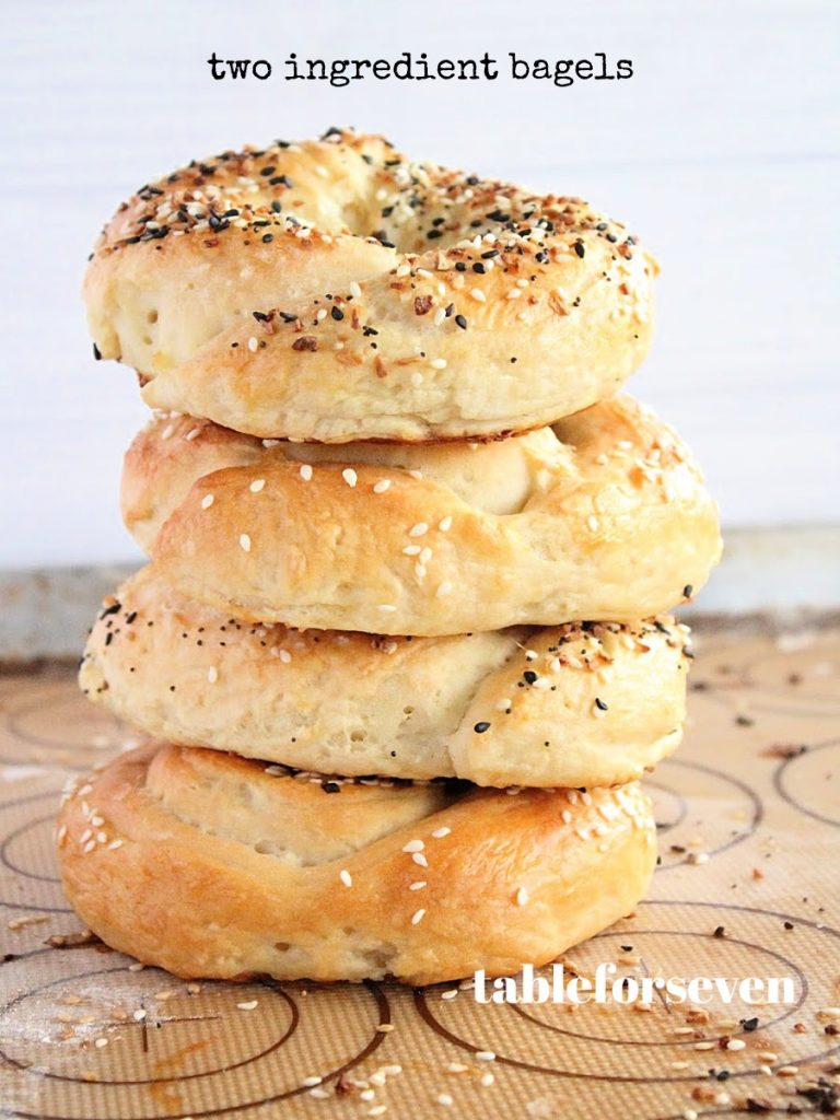 Two Ingredient Bagels- Table for Seven