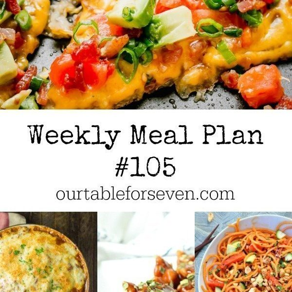 Weekly Meal Plan 105- Table for Seven