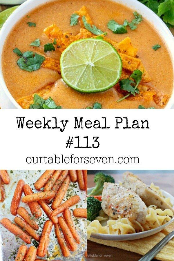 Weekly Meal Plan 113
