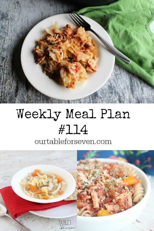 Weekly Meal Plan 114- Table for Seven