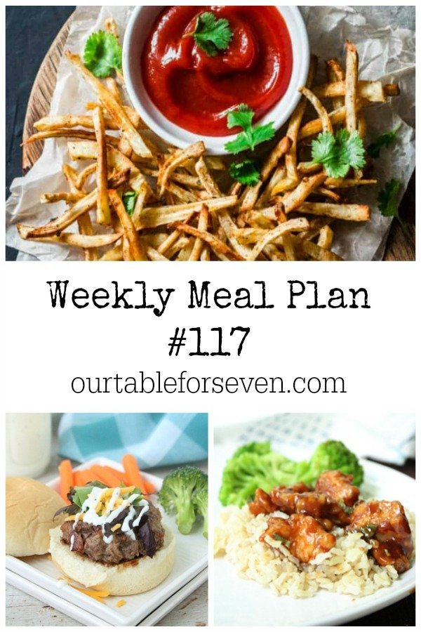 Weekly Meal Plan 117- Table for Seven #mealplan #menu #mealplanning