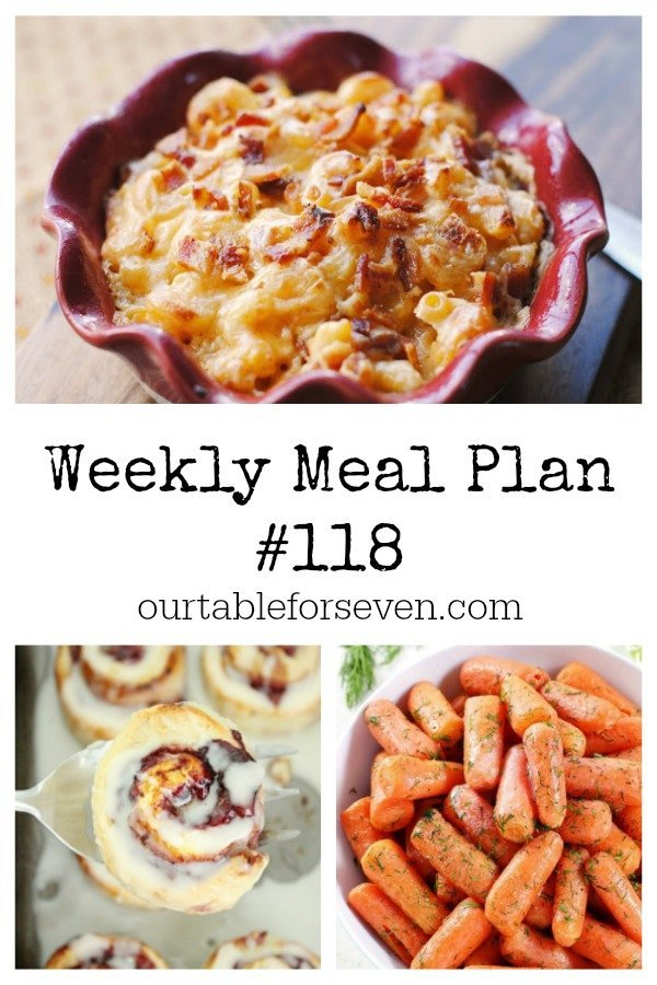 Weekly Meal Plan 118- Table for Seven #mealplan #menuplanning
