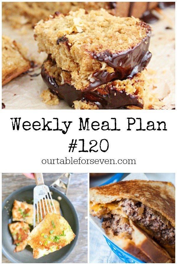Weekly Meal Plan 120 Table for Seven #mealplan #mealplanning