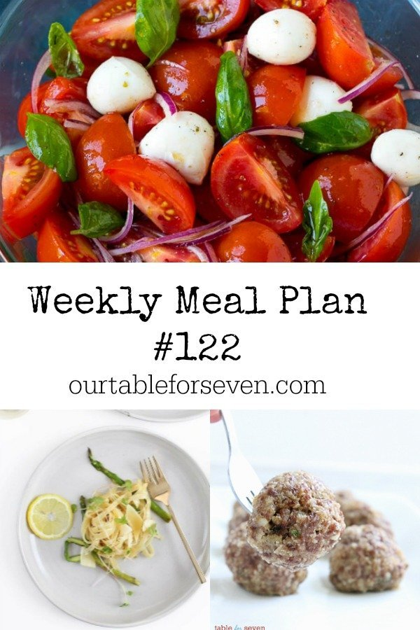 Weekly Meal Plan 122