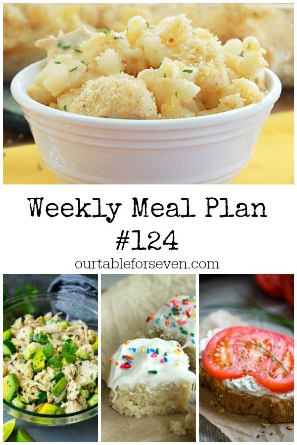 Weekly Meal Plan 124- Table for Seven