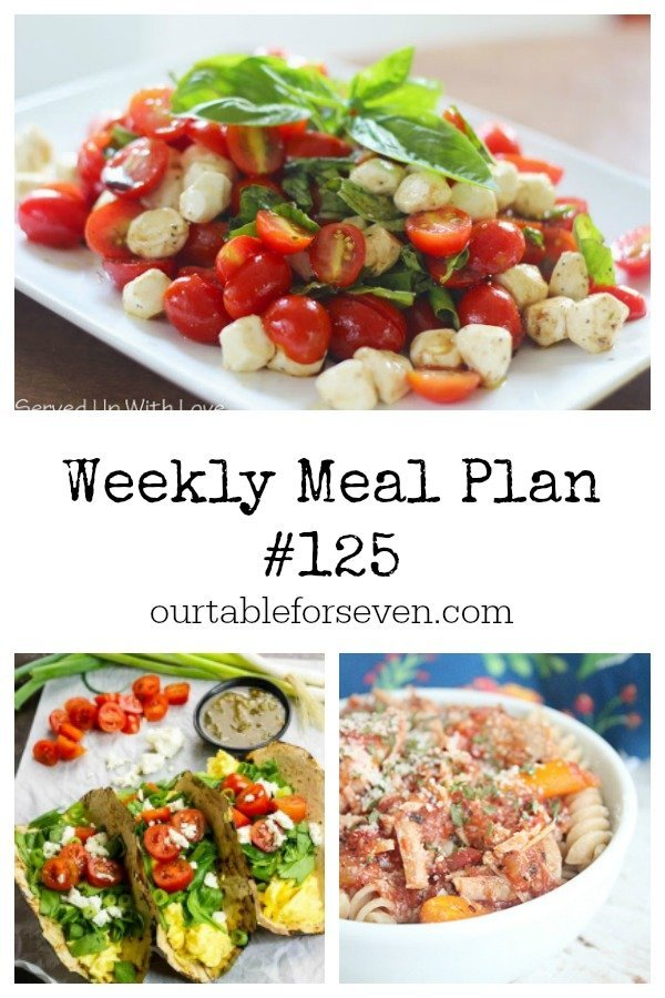Weekly Meal Plan - Table for Seven