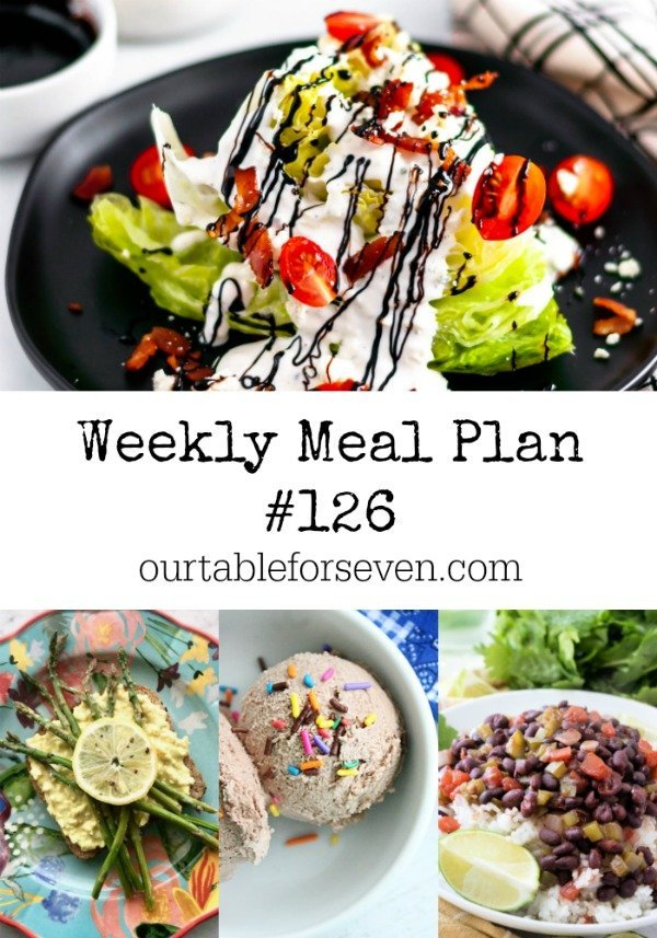 Weekly Meal Plan 126